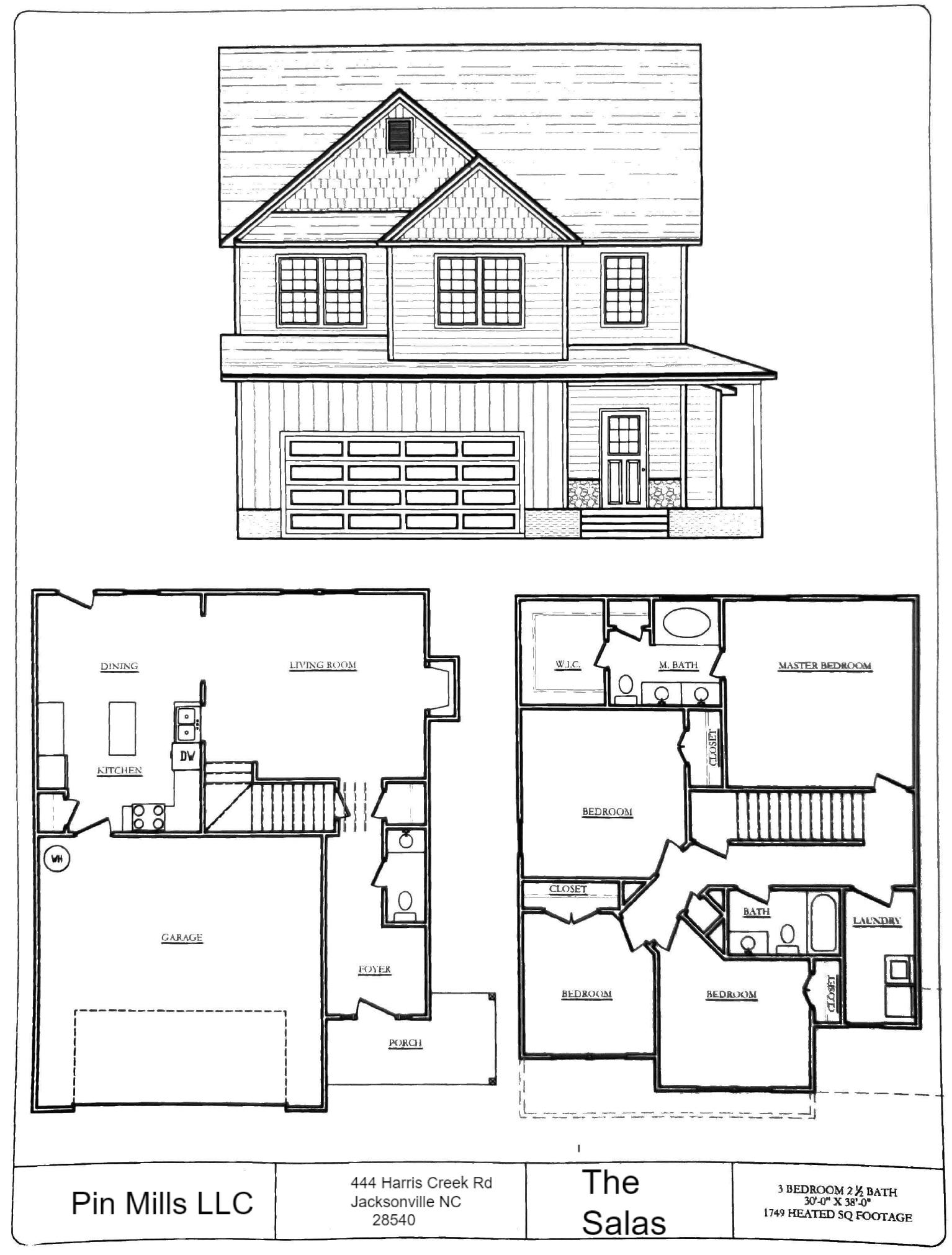 flooplan blueprints for the Southwest Plantation Salas home